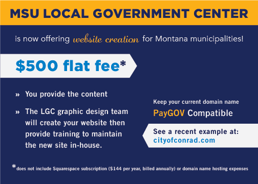 MSU LGC is now offering website creation for Montana municipalities