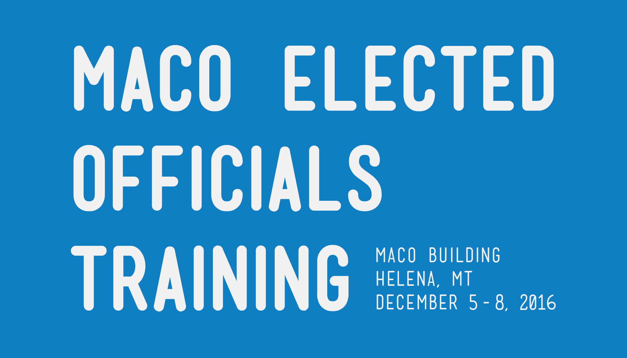 MACo Elected Officials Training