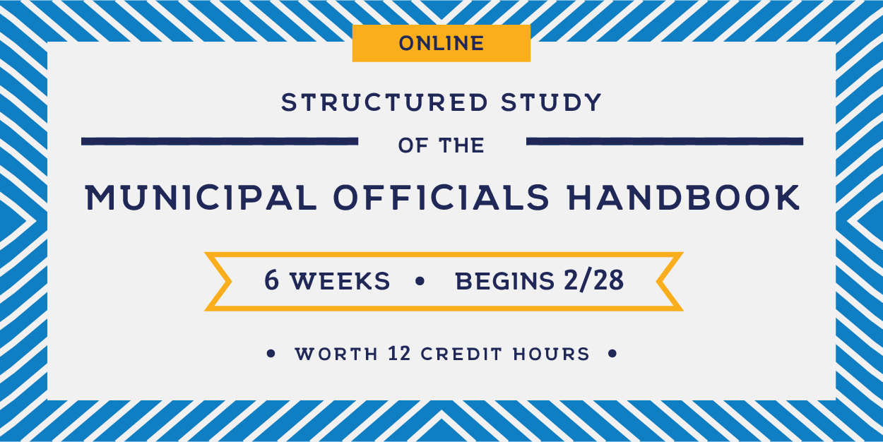 Online Structured Study of the Municipal Officials Handbook