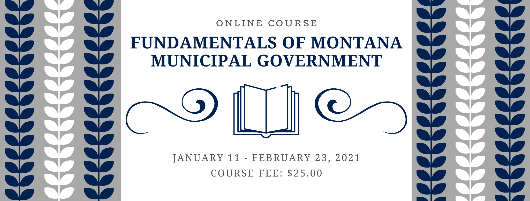 Fundamentals of Montana Municipal Government Online Course banner